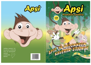 Apsi playbook cover. ABC service stations, published 2011. Design, story and copy together with Merja Forsman, illustration and additional character design.
