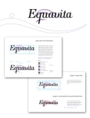 Identity and logo design for Equavita Oy. 2012