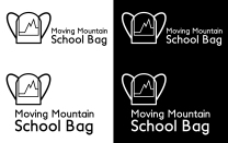Logo design for Moving Mountain Schoolbag Project. Organized by Rewati Gurung and Gary Wornell with the help of several locals. 2015. Visit www.movingmountainschoolbag.org