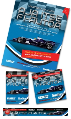 Campaign for A-lehdet in various formats for print and web.